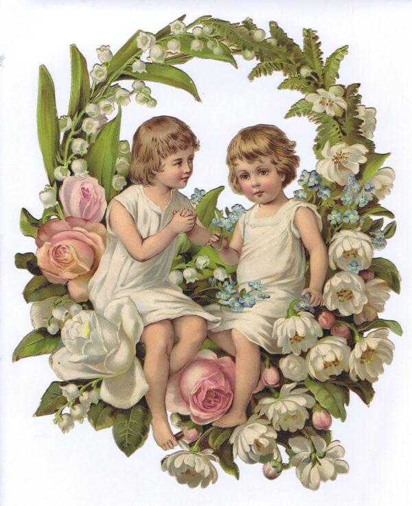 Børn i blomster