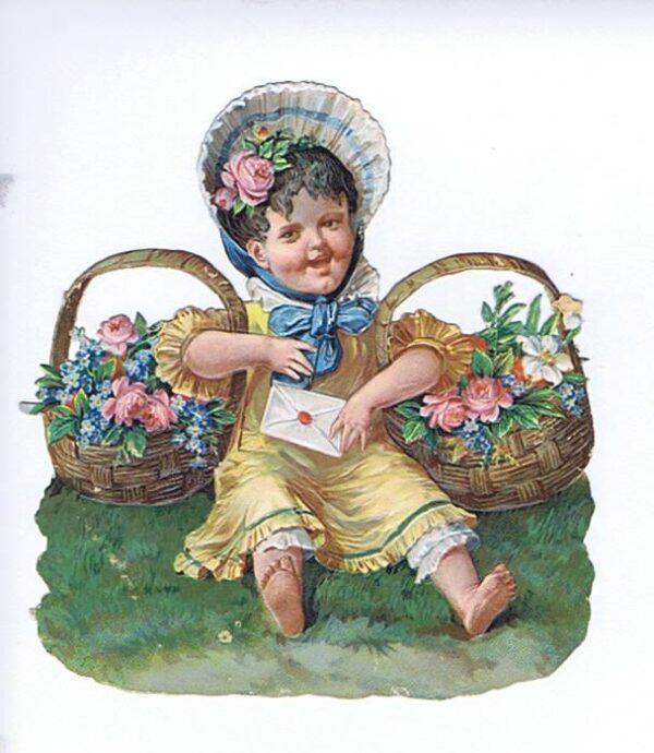 Børn med blomster