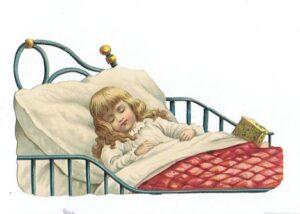 Børn sover og beder