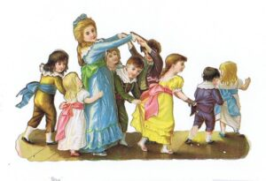 Børn spiller og danser